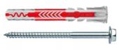 50 Stk. Fischer Duopower 10 x 80mm m. Sechskantschrauben (Gewerbepackung)