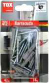 12 Stk. Spreizdübel Barracuda 6 x 30mm mit Schrauben