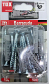 10 Stk. Spreizdübel Barracuda 8 x 40mm mit Schrauben