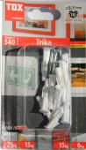 10 Stk. Allzweckdübel TRIKA 5 x 31mm mit Schrauben