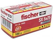 100 Stk. Fischer Spreizdübel SX 5 x 25