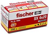 200 Stk. Fischer Spreizdübel SX 4 x 20