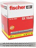 25 Stk. Fischer Spreizdübel Langversion SX 10 x 80