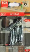 4 Stk. Metall-Hohlraumdübel TOX Acrobat M5 x 37mm
