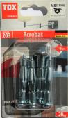4 Stk. Metall-Hohlraumdübel TOX Acrobat M5 x 52mm