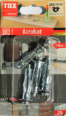 4 Stk. Metall-Hohlraumdübel TOX Acrobat M6 x 37mm